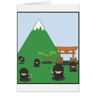 Cartoon Ninjas (in the countryside) Card
