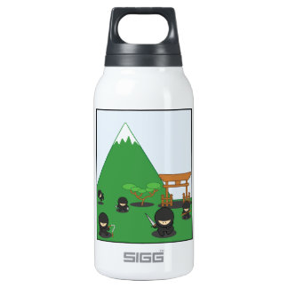 Cartoon Ninjas (in the countryside) Insulated Water Bottle