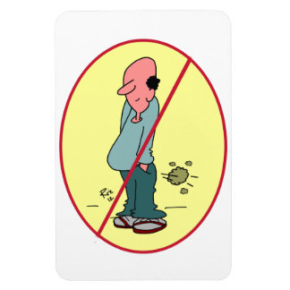 Cartoon No Pooting on magnet