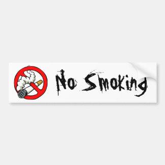 Cartoon No Smoking Sign Car Bumper Sticker