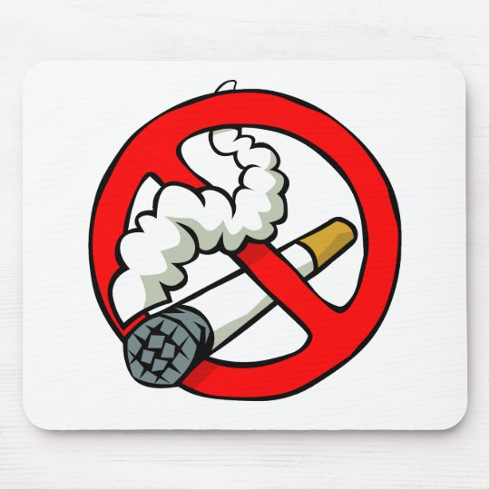Cartoon No Smoking Sign Mouse Pad