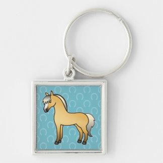 Cartoon Norwegian Fjord Horse Keychain