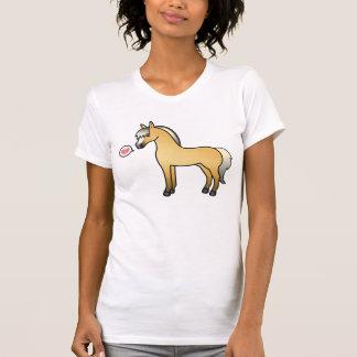 Cartoon Norwegian Fjord Horse Love T-Shirt