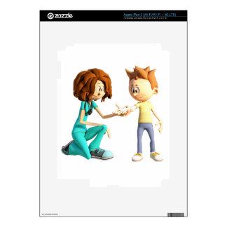 Cartoon Nurse and Little Boy iPad 3 Decal
