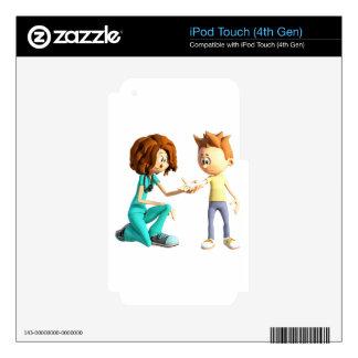 Cartoon Nurse and Little Boy iPod Touch 4G Decal