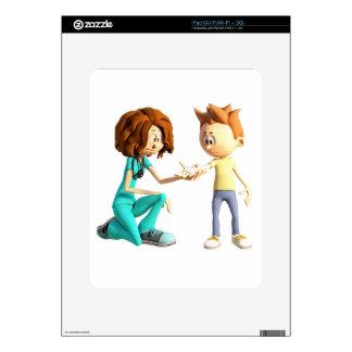 Cartoon Nurse and Little Boy Skin For iPad