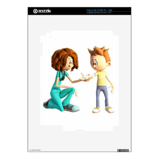Cartoon Nurse and Little Boy Skin For The iPad 2