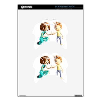 Cartoon Nurse and Little Boy Xbox 360 Controller Decal
