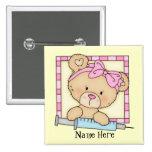 Cartoon Nurse Bear button