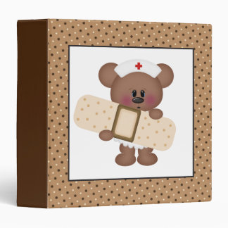 Cartoon Nurse Bear fun Binder