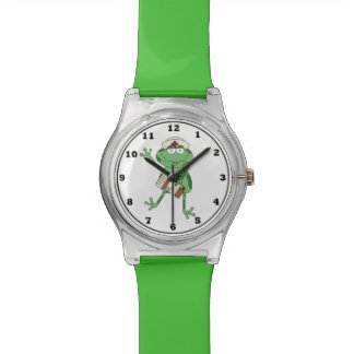 Cartoon Nurse fun may 28th wrist watch
