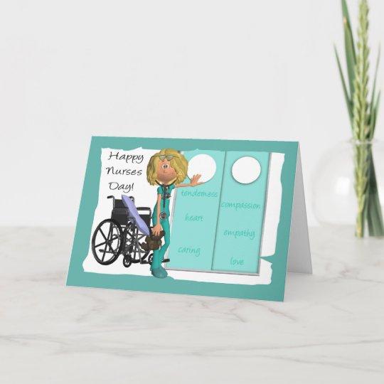 Cartoon Nurse Nurses Day Greeting Card Zazzle