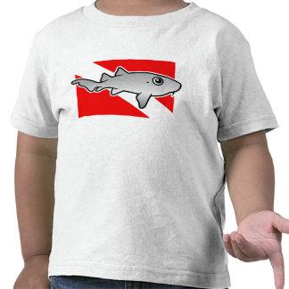 Cartoon Nurse Shark Dive Flag T-shirt