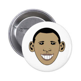 Cartoon Obama Pinback Button