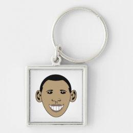 Cartoon Obama Keychain