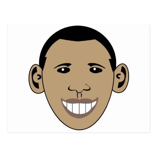 Cartoon Obama Postcard