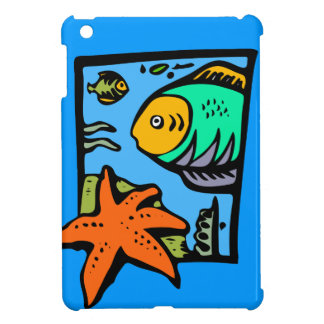 Cartoon Ocean, Sea Animals, Starfish Case For The iPad Mini