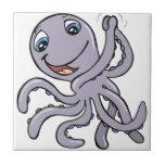 Cartoon Octopus Ceramic Tiles