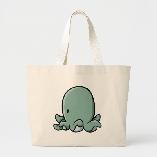 Cartoon Octopus Large Tote Bag
