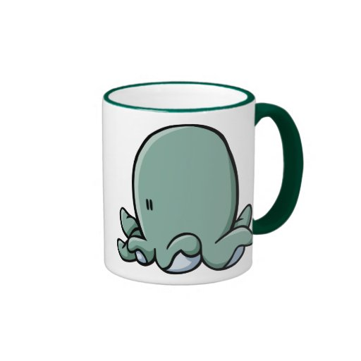 Cartoon Octopus Ringer Coffee Mug