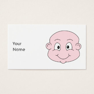 Cartoon of a cute baby, smiling. business card