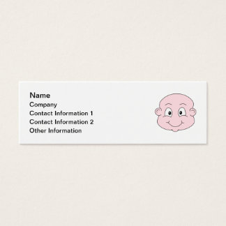 Cartoon of a cute baby, smiling. mini business card