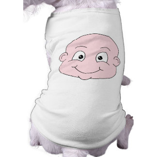 Cartoon of a cute baby, smiling. pet clothing