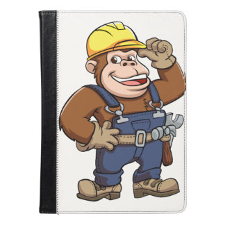 Cartoon of a Gorilla Handyman