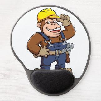 Cartoon of a Gorilla Handyman Gel Mouse Pad