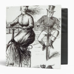 Cartoon of a Lady on a Velocipede, 1869 3 Ring Binders