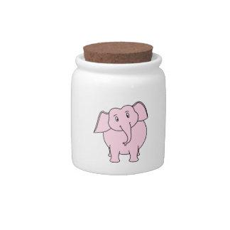 Cartoon of a Pink Elephant Candy Dish