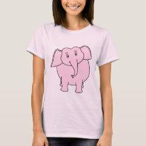 Cartoon of a Pink Elephant T-Shirt