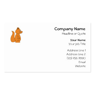Cartoon of a Red Squirrel Business Card