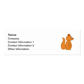 Cartoon of a Red Squirrel Mini Business Card