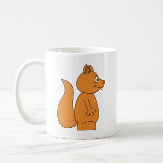 Cartoon of a Red Squirrel Coffee Mug