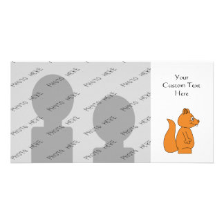 Cartoon of a Red Squirrel Photo Card Template