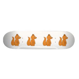 Cartoon of a Red Squirrel Skateboard Deck
