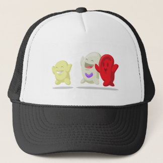 Cartoon of Blood Cell - Erythrocytes, Leukocytes, Trucker Hat