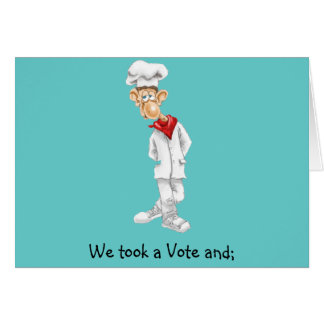 Cartoon of Chef with funny sayings Card