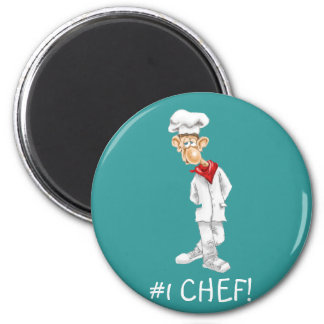 Cartoon of Chef with funny sayings Refrigerator Magnet