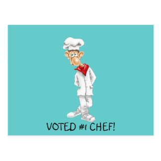 Cartoon of Chef with funny sayings Postcard