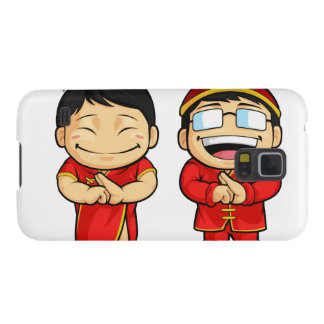 Cartoon of Chinese Boy & Girl Galaxy S5 Cover