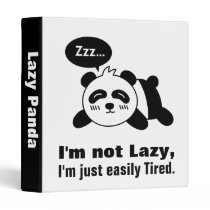 Cartoon of Cute and Lazy Panda 3 Ring Binder
