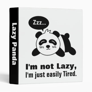 Cartoon of Cute and Lazy Panda Binders