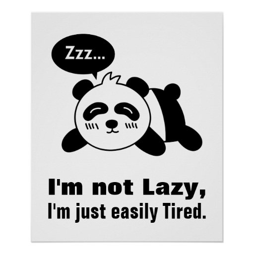 Cartoon Of Cute And Lazy Panda Posters Zazzle