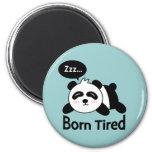 Cartoon of Cute Sleeping Panda 2 Inch Round Magnet