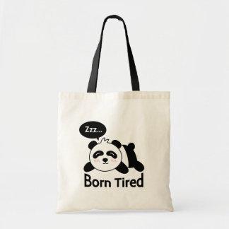Cartoon of Cute Sleeping Panda Bags