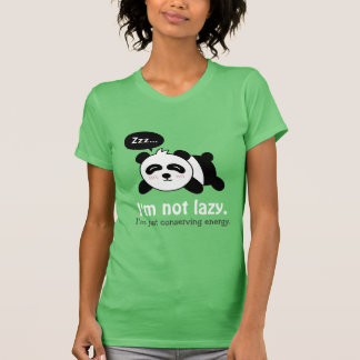 Cartoon of Cute Sleeping Panda T-Shirt