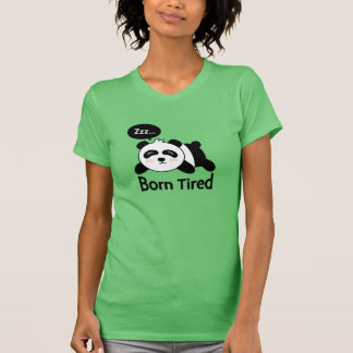 Cartoon of Cute Sleeping Panda Shirts