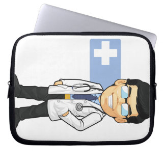 Cartoon of Doctor Computer Sleeves